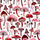 Pink Mushrooms  by TigaTiga
