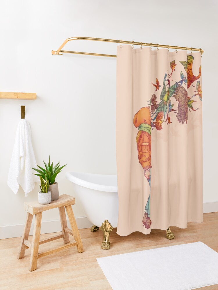 Alternate view of ENVOL Shower Curtain