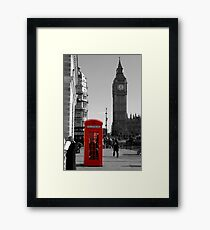 Red Telephone Box in Westminster London Framed Print