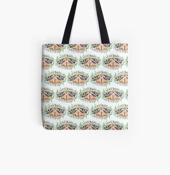 Parthenice Tiger Moth All Over Print Tote Bag