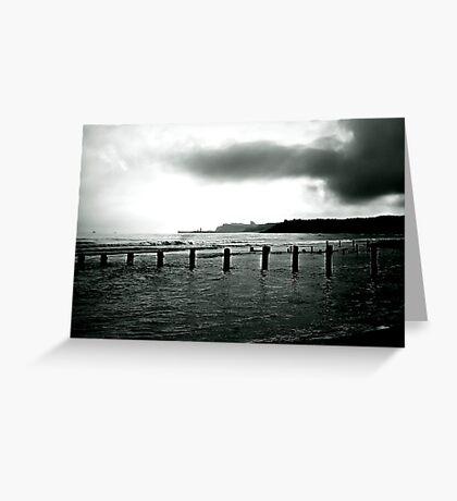 Looking Across Sandsend Wyke. Greeting Card