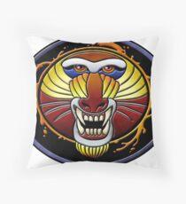 clan fire mandrill Throw Pillow