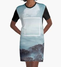 merging sky and sea Graphic T-Shirt Dress