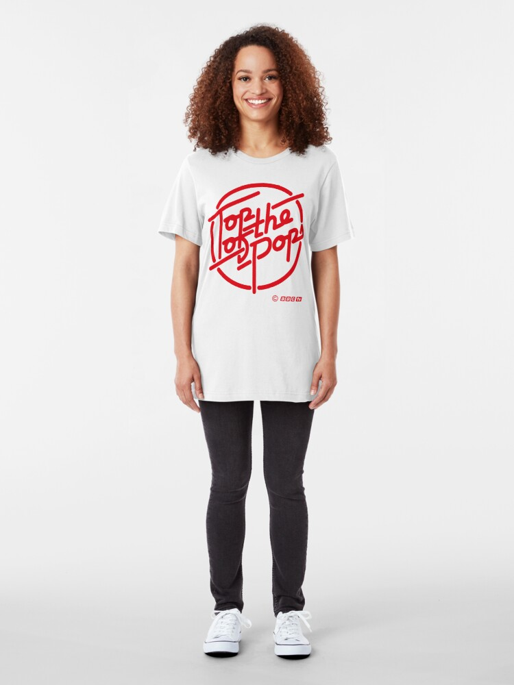 Alternate view of NDVH Top of the Pops red Slim Fit T-Shirt