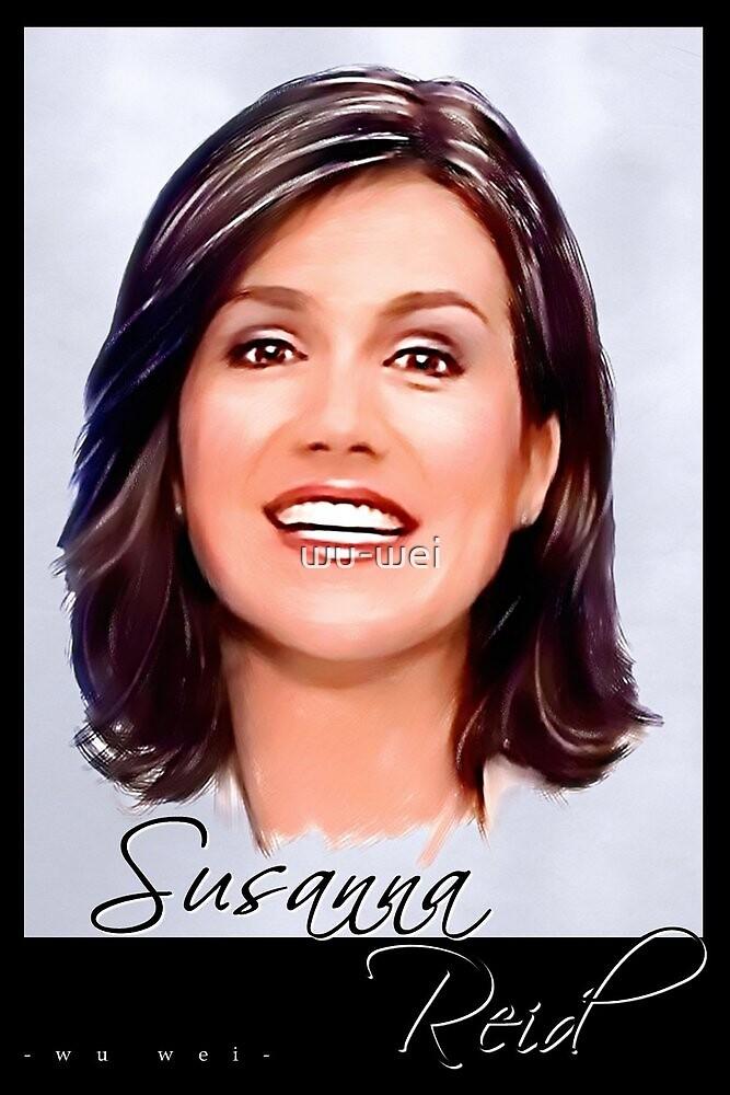Susanna Reid postcard portrait by wu-wei