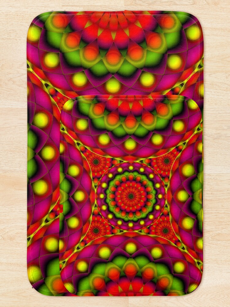 Alternate view of Psychedelic Visions Bath Mat