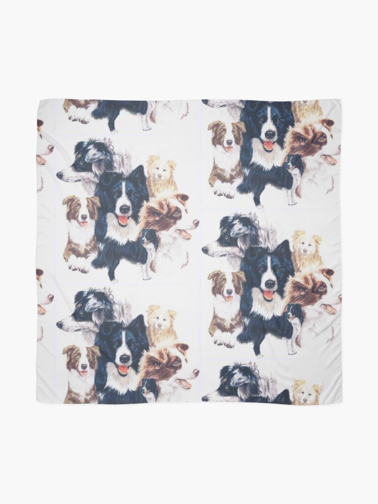 Alternate view of Border Collie Montage Scarf