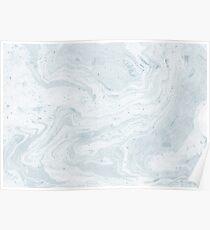 Suminagashi Love, Pale Blue Poster