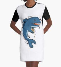 Overly Caffeinated Shark Graphic T-Shirt Dress