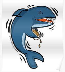 Overly Caffeinated Shark Poster
