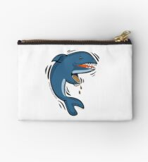 Overly Caffeinated Shark Zipper Pouch