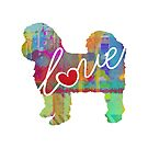 Shih Tzu (Short Haired) - A Bright and Colorful Watercolor Style Gift by traciwithani