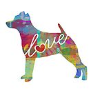 Smooth Fox Terrier Love - A Bright and Colorful Watercolor Style Gift by traciwithani