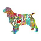 Springer Spaniel Love - A Bright and Colorful Watercolor Style Gift by traciwithani