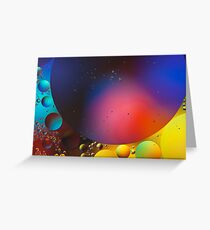 Oil on Water 11 Greeting Card