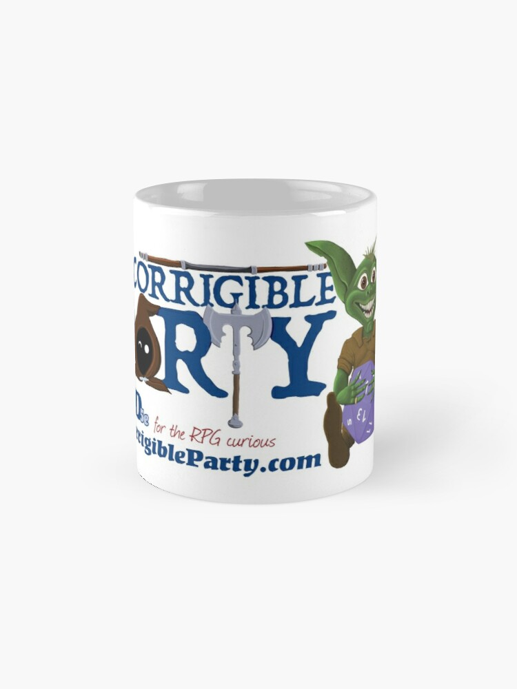 Alternate view of Incorrigible Party logo and Thuft Mug