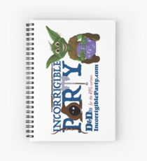 Incorrigible Party logo and Thuft Spiral Notebook