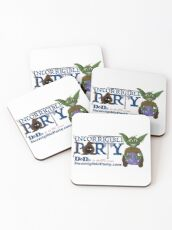 Incorrigible Party logo and Thuft Coasters