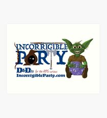 Incorrigible Party logo and Thuft Art Print