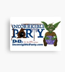 Incorrigible Party logo and Thuft Canvas Print