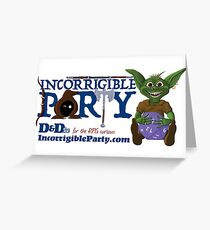 Incorrigible Party logo and Thuft Greeting Card