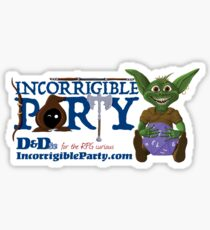 Incorrigible Party logo and Thuft Glossy Sticker
