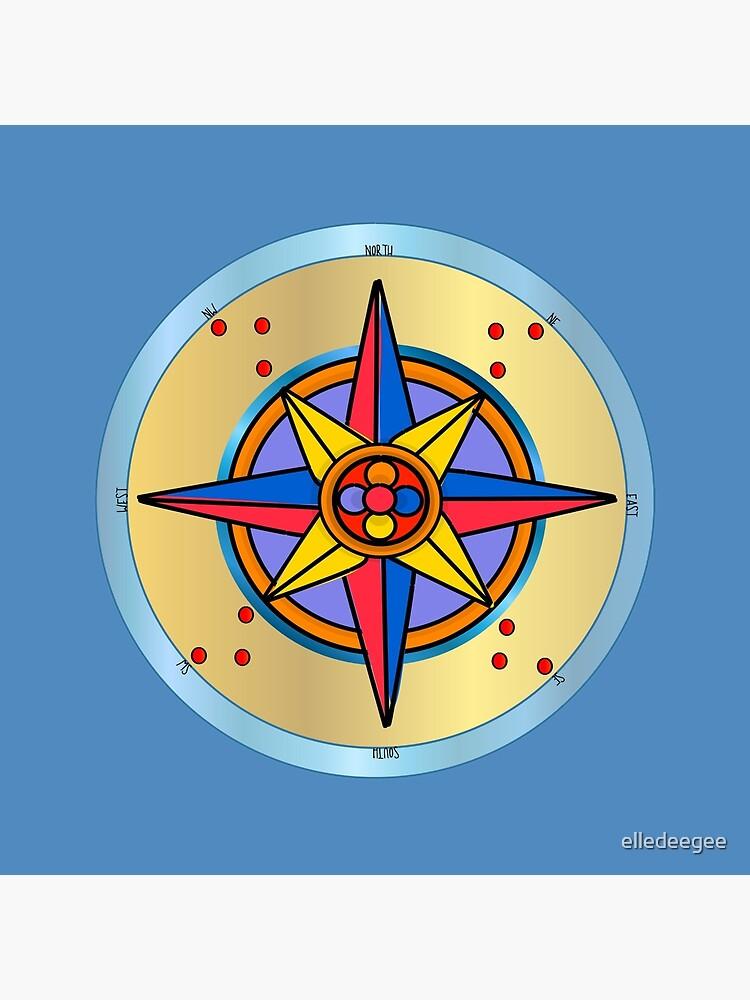 Ornate Compass Rose by elledeegee