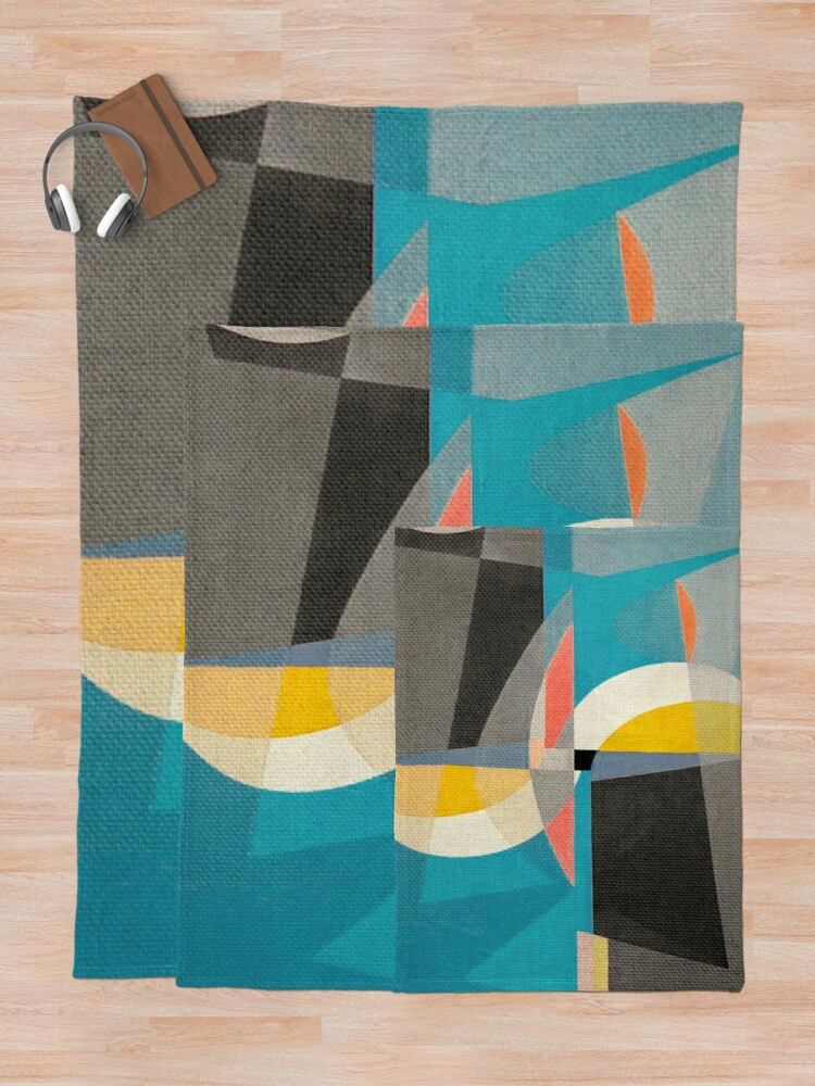 Alternate view of Sailing on the Canal Throw Blanket