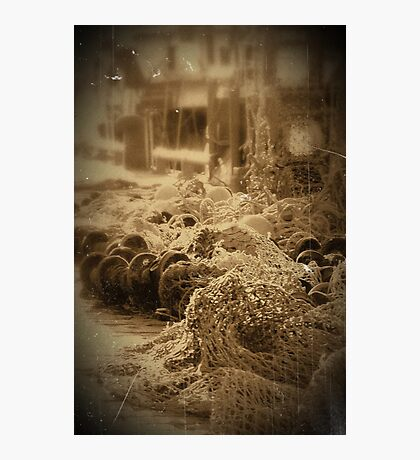 Nets At Pittenweem Harbour. Photographic Print