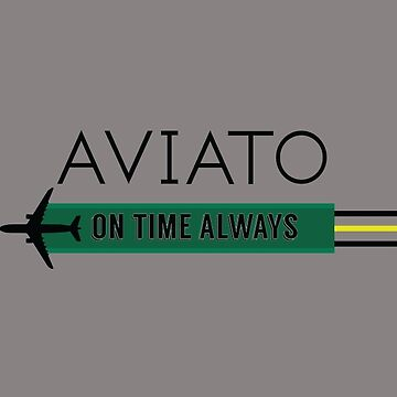 Aviato! On Time Always (Black)- Silicon Valley by Kratosony