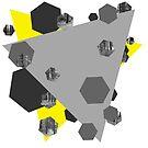 Überlappende Dreiecke von Jess de Mol-Ware