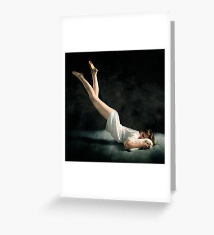 Falling Asleep Greeting Card