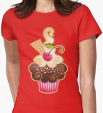 Scrumptious Cupcake Womens Fitted T-Shirt
