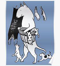 Bull Terrier Laundry Poster