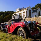 Exmoor: MG's at Selworthy Church by Robert parsons