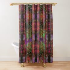 Pyrotechnic Pattern Shower Curtain