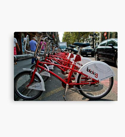 Cycles for hire Baraclona  Canvas Print