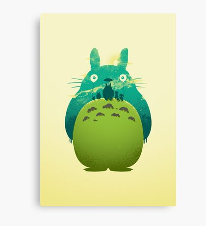 Totoro's Day Out Canvas Print