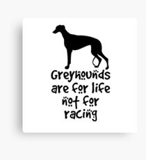 Greyhounds are for life not for racing Canvas Print
