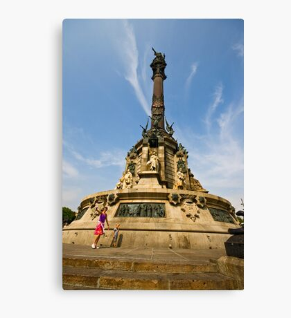 Center of Barconla the Square Canvas Print