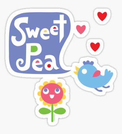 Sweet Pea - on lights Sticker