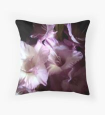 Secretive Gladiolas Throw Pillow