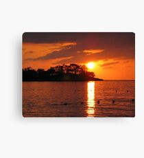 Jamaican Sunset Canvas Print