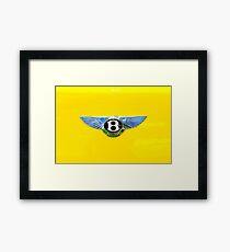 Bentley Logo on Yellow Framed Print