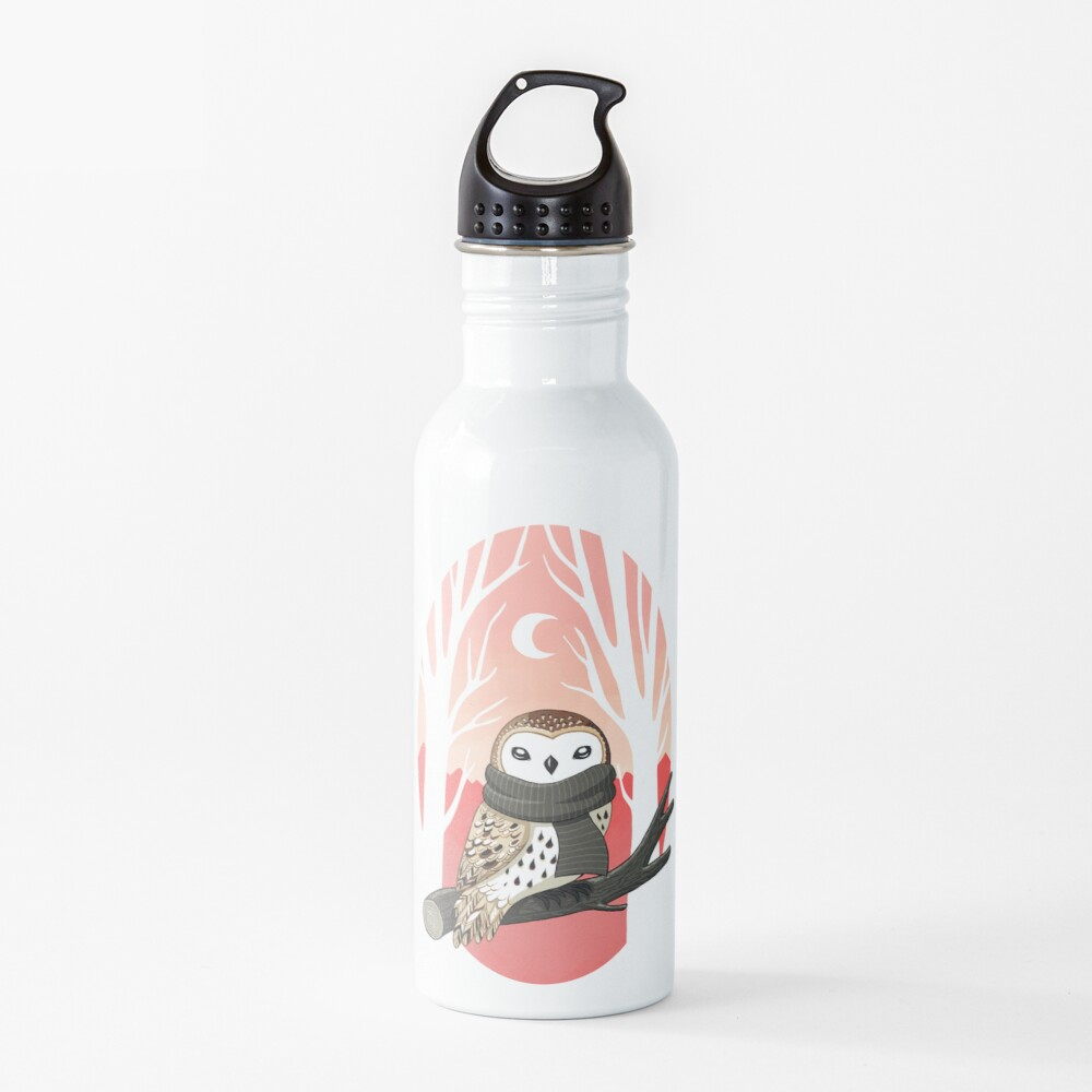 Winter Owl Water Bottle