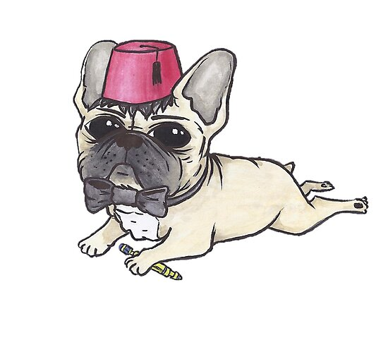 Dr Who French Bulldog- Bow Ties are Cool  by Liddle-Ideas