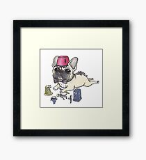 Dr Who French Bulldog Framed Print
