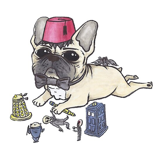 Dr Who French Bulldog by Liddle-Ideas