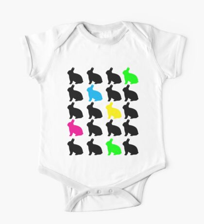 Colorful Bunny T-shirt Kids Clothes