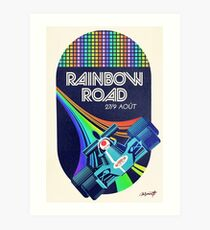 Rainbow Road Grand Prix Art Print